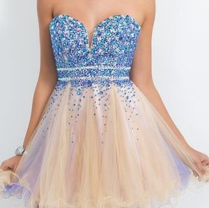 Intrigue formal prom dress babydoll empire waist